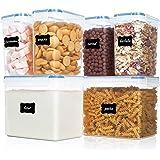 Vtopmart Flour Storage Containers 6 Pieces Set Transparent