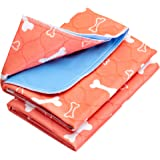 Washable & Reusable Pee Pads for Dogs - Puppy Training (2-Pack) Sm/Med/Lg - for Housebreaking, Incontinence, Odor Control, Wh