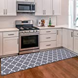 """WiseLife Kitchen Mat Cushioned Anti-Fatigue Kitchen Rug, 17.3""""x 59"""" Waterproof Non-Slip Kitchen Mats and Rugs Heavy Duty PVC"""
