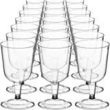 DecorRack 24 Wine Glasses, 6 Oz -BPA Free- Plastic Party Wine Cups, Perfect for Outdoor Parties, Weddings, Picnics, Stackable