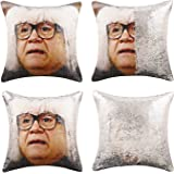 JASEN DIY Sequin Pillow Covers, Danny Devito Reversible Color Changing Pillow Case Magical Mermaid Decorative Cushion Cover w