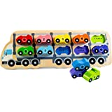 Wooden Educational 1-10 Car Puzzle