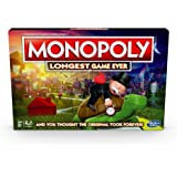 Hasbro Monopoly Longest Game Ever, Classic Monopoly Gameplay With Extended Play; Monopoly Board Game for Ages 8 and Up,E89150