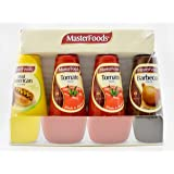 MasterFoods Sauce Combination Pack, Tomato Sauce, Barbecue Sauce and American Mustard Squeezy Bottles, 1.5 Kilograms