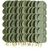 Meiliy 300pcs Artificial Greenery Eucalyptus Leaves Faux Eucalyptus Silver Dollar Leaves for Home Wedding Decor
