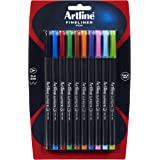 Artline 102136 Supreme Fineline Pen 0.4MM Assorted Pack 10