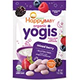 Happy Baby Organic Yogis Freeze-Dried Yogurt & Fruit Snacks Mixed Berry, 1 Ounce Bag (Pack of 8) (Packaging May Vary) Organic