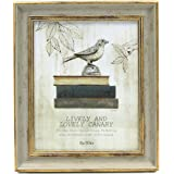 Afuly Vintage Picture Frame 8x10 Antique Photo Frames in Green and Gold - Made of Recycled PS and Glass Wide Mounting Wedding