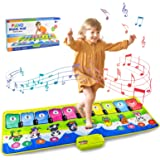 AKILION Piano Mat for Kids, Dance Mat, Electronic Animal Touch Carpet Musical Blanket Toys, Early Education Music Toys  Baby