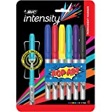 BIC Intensity Permanent Fine Point Markers – 6 Assorted Pop Art Colours - Low Odour