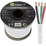 GearIT Pro Series 12 Gauge 4-Conductor Speaker Wire (250 Feet / 76 Meters) 12 AWG OFC (99.9% Oxygen Free Copper) Speaker Wire