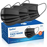 4 Layer Face Mask Disposable Medical Grade Masks(50PCS), Breathable Safety Mask with Nose Wire for Glasses Wearers Mouth Cove