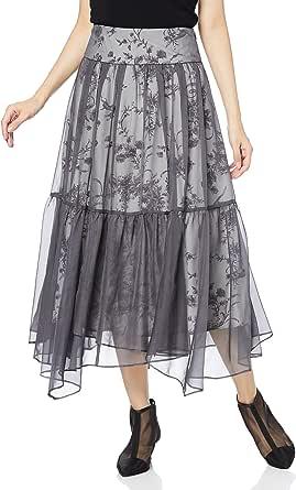[スナイデル] シフォンオーバープリントスカート SWFS214147 レディース