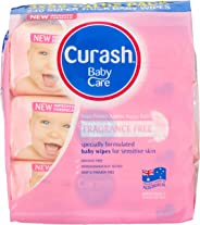 Curash Fragrance Free Baby Wipes 3X80 PK