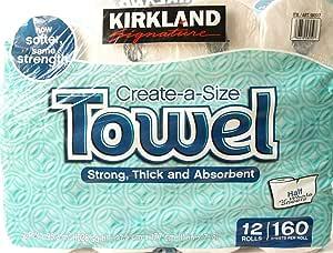 KIRKLAND カークランド シグネチャー ロールタオル(ペーパータオル) 2枚重ね 160カット12ロール