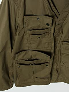 Polyester Collarless Fishing Jacket 11-18-3250-803: Olive Drab