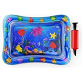 Tummy Time Water Play Mat for Infants -Water Floor Play Mat - Activity Center – Stimulates Your Baby's Growth - Boys and Girl