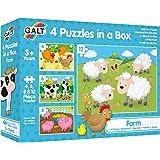 Galt 1003913 Four Puzzles in A Box - Farm