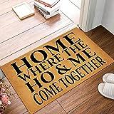 Joelmat Home, Where The Ho & Me Come Together Entrance Non-Slip Indoor Rubber Door Mats for Front Door/Bathroom/Garden/Kitche