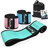 TheFitLife Resistance Bands for Legs and Butt - Fabric Resistance Bands Set for Women to Sculpt Desired Peach Shape, Exercise