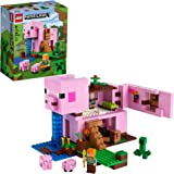 LEGO Minecraft The Pig House 21170 Minecraft Toy Featuring Alex, a Creeper and a House Shaped Like a Giant Pig, New 2021 (490
