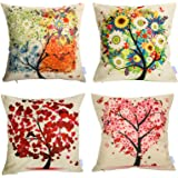 Nice Mothers Gift Day sunfloer Tree Home Couch Decor Beige Cotton Linen Cushion Cover Pillow Cover Pillow Case Throw Pillow C