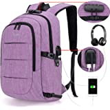 Tzowla Business Laptop Backpack Water Resistant Anti-Theft College Backpack with USB Charging Port and Lock 15.6 Inch Compute