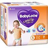 BabyLove Cosifit Nappies, Size 5 (12-17kg), 68 Nappies (4x 17 pack)
