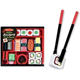 Melissa & Doug 2608 Sushi Slicing Wooden Play Food Set