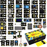 KEYESTUDIO 48 in 1 Sensor Kit for arduino Projects with LCD, 5v Relay, IR Receiver, Line Tracking, Traffic Light, 9G Servo Mo