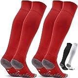 サッカーストッキング サッカーソックス メンズ 22-30cm 滑り止め 通気吸汗 摩耗性に強い フットボール フットサル スポーツソックス 2足セット