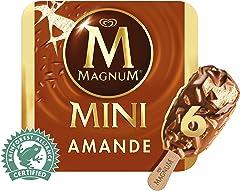 Magnum Mini Almond Multipack Ice Cream Stick, 6 x 60ml- Frozen
