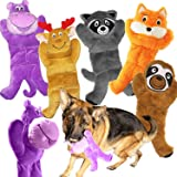 Jalousie 5 Pack 12'' Dog Toys Assortment Value Bundle Dog Plush Toys Dog Squeak Toys12 Inch Each Dog Squeaky Toys Assortment