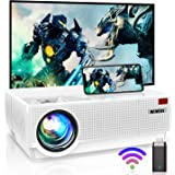Projector, WiMiUS Newest P28 6800 Lumens LED Projector Native 1920x1080 Video Projector Support 4K Dolby 300'' Screen 4D ±50°