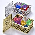 Hercugifts Diving Gem Pool Toy 16 Colorful Diamond Set with Two Treasure Box and Golden mesh Bag Summer Swimming Gem Pirate D