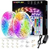 SHOPLED LED Strip Lights 10m for Bedroom, RGB LED Lights Color Changing Rope Lights with IR Remote Control, LED Strip kit Gam
