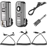 Neewer FC-16 Multi-Channel 2.4GHz 3-in-1 Wireless Flash/Studio Flash Trigger with Remote Shutter for Nikon D7100 D7000 D5100