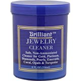 Brilliant 240ml Jewellery Cleaner with Cleaning Basket and Brush