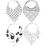 "Baby Bandana Drool Bibs for Drooling and Teething 4 Pack Gift Set ""Willow Set"" by Copper Pearl"