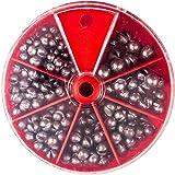 【オルルド釣具】ガン玉セット 120g 丸型 割ビシ 5サイズ入 qb500042a01n0