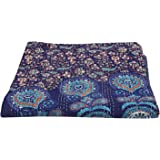 Queen Kantha Quilt Indian Peacock Mandala Tapestry Bohemian Quilt Throw Blanket Bedspread Throw Vintage Bedspread Blanket
