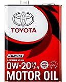 TOYOTA(トヨタ) エンジンオイル トヨタ純正 キヤッスルモーターオイル 0w-20 SN/GF-5 全合成油 4L 08880-12205