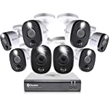 Swann 8 Channel 8 Camera Security System, Wired Surveillance 1080p HD DVR 1TB HDD, Audio Capture, Weatherproof, Color Night V
