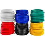 GS Power 14 AWG (American Wire Gauge) OFC Pure Copper Automotive Primary Wire 6 Roll Color Combo (50 Feet Roll, 300 FT total)