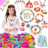 HUMUTU Snap Pop Beads, 900+PCS Pop Beads for Girls Jewelry Making Kits, Pop Beads Jewelry Toys for Age 3 4 5 6 Year Old Kids