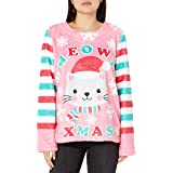 Faux Real Women's Plush Coral Fleece Sweater with Long Sleeves, Christmas