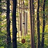 LACHIKA Wind Chimes Outdoor Large Deep Tone Metal Windchimes Sound Like Church Bell 44 inch (Copper Vein,1pcs)