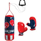 Franklin Sports Future Champs Kids' Mini Boxing Set – Includes Kids' Boxing Gloves – Punching Bag & Door Jam Bracket with Rop