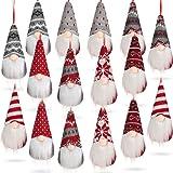 8 Styles Christmas Santa Gnomes Ornaments Handmade Scandinavian Santa Elf Plush Dolls Hanging Santa Christmas Decorations for