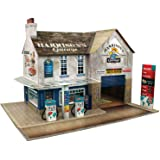 O gauge 7mm 1:48 scale Model Railroad Building GARAGE & SHOP Kit The CityBuilder